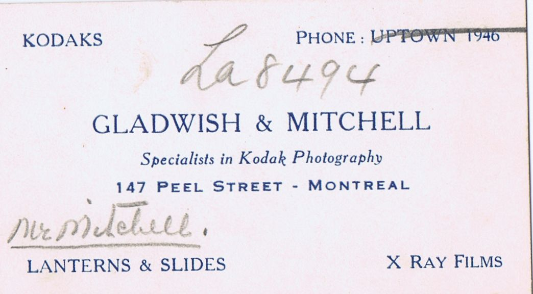 Business Card Mr. Mitchell Gladwish & Mitchell Montreal