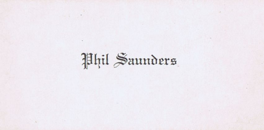 Business Card Phil Saunders
